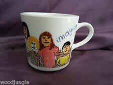 Vintage CORNING HEATHER'S JOHN LENNON IMAGINE WORLD PEACE MUG COFFEE CUP corelle