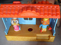 Vintage 1975 Mattel Playset with Owl and Cat Figures  LOOK