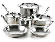 ALL-CLAD 10PC COPPER CORE COOKWARE SET 600822 SS  *NEW*