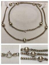 Bella Collar/Collar 925 Plata con 9 Bolas Cadena de plata collar de plata