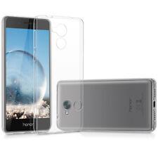Suave Gel Transparente Liso Flexible Silicona Funda para Huawei Honor 6c Pro