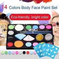 Kinderschminke Set Schminkpalette Face Paint 14 Farben Schminkset