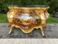 BAROQUE STYLE WOOD  COMMODE WITH MARBLE TOP #LU5.0