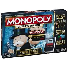 Board Game 2-4 Players Monopoly Ultimate Banking Indoor Game Age 8+