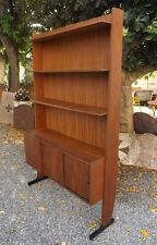 Design Vintage Libreria anni '50/60 con ante e ripiani a giorno, ottima linea