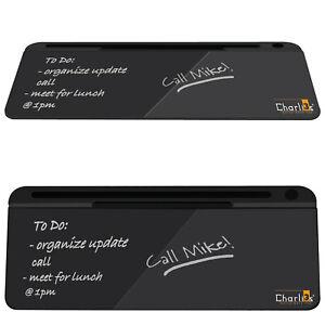 Charli3s Glass Desktop Whiteboard Blackboard Dry Wipe Pad-Desk Organiser Notepad