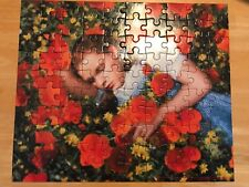 The Wizrd of Oz 100 Piece Puzzle Dorothy in the Poppy Fields Garland Complete