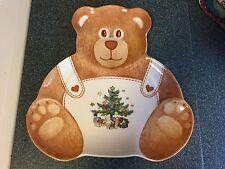 Nikko Christmastime Teddy Bear Plate - MINT - RARE