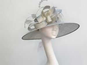 Silver Lurex Wedding Occasion Races Hat - JB163