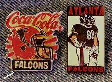 Atlanta Falcons~Lot of 2 Pin Collection~Set~NFL~Football~Coca Cola~Coke~Vintage