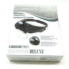 Magnivisor Head Band Visor Magnifier - Lighted Led + 4 Lenses Carson Pro CP-60