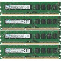 Samsung 32GB 4X8GB PC3L-12800E DDR3-1600Mhz 1.35V Desktop / Server Memory Ram