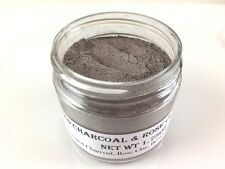 ACTIVATED CHARCOAL & ROSE CLAY FACE MASK w/Bentonite Clay- Reduces Acne 1.75oz
