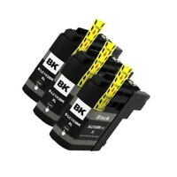 3 BLACK INK CARTRIDGE BROTHER LC-103XL MFC-J4610DW MFC-J470DW MFC-J4710DW J475DW