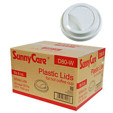 SunnyCare 8 oz. Hot Paper Cup Travel Lid White 1000 / case