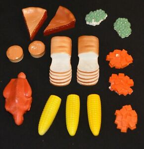 VINTAGE 1950's PRETEND PLAY DOLL SIZED PLASTIC FOOD LOT