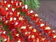 100pcs, Charm Rouge Perles  en vrac ,3x4mm