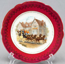 Bawo & Dotter Royal Vienna Style Tudor House Victorian House & Carriage Plate