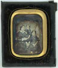 WONDERFUL DATED & IDENTIFIED FRENCH FAMILY DAGUERREOTYPE DAG NEEDS CONSERVATION