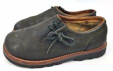 Vintage Simple Slip On Clogs Grey Shoes Size 8 Womens Lace Up Side Hippy Boho