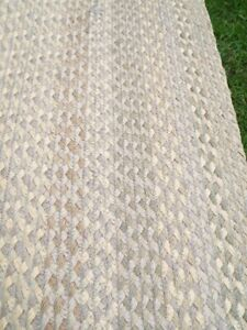 Rectangle Herringbone Flat Weave Jute Muted Tones Reversible Runner/Rug.