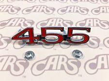 1970-1972 Buick 455 Front Fender Emblem   455 Plate   GS 455   LeSabre   Skylark