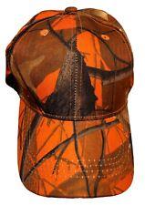 Hunting & Fishing Camouflage Baseball Cap Hat with Hardwood Pattern, Camo
