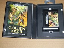 GOLDEN AXE II  Sega Genesis Complete w/ Case & Manual Cleaned & Tested