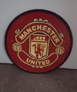 Cast Iron Sign/Plaque, Man United, Man Cave, Football,