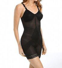 Rago Shapewear Long Leg Lacette Black Body Briefer Size 46 Multiple Cup Sizes