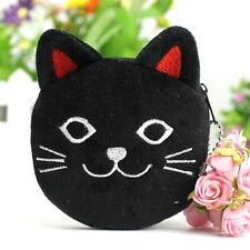 Women's Girl's Kawii Black Cat Kitten Plush Coin Wallets Purse Gift 1pc