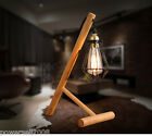 Modern Style E27 Diameter 31CM Iron+Wood Creative Bedroom Bedside Table Lamp