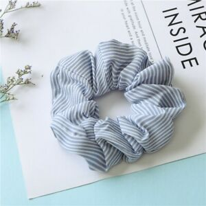 Solid Floral Bow Scrunchie Hair Band Elastic Ties Rope Scarf Women Accessories