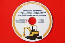 KOMATSU PC25-1, PC30-7, PC40-7, PC45-1 EXCAVATOR SERVICE, SHOP & OPERATOR MANUAL