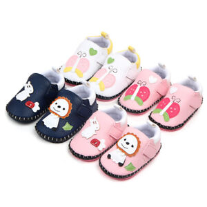 Boy Girl Baby Shoes Infant Toddler Kid Crib Rubber Sole First walk Booties 0-18M