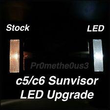 1997-2013 c5/c6 Corvette Sun visor/Vanity (Bright White) LED Upgrade Kit