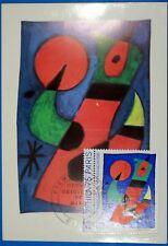 JOAN MIRO  FRANCE CPA Carte Postale Maximum Yt 1811 GF