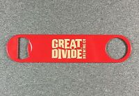 GREAT DIVIDE BREWING CO Beer Large Speed Bottle Opener Brewery Brewing 7in