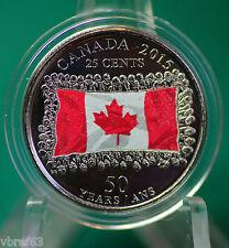 2015 Canada Special Coloured Flag Quarter - one A1 coloured quarter from roll