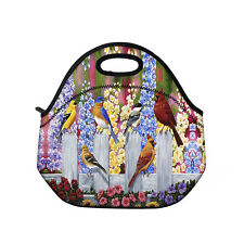 Birds Thermal Cooler Insulated Lunch Bag Picnic Carry Neoprene Tote Storage Box