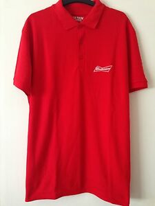 MENS BUDWEISER T- SHIRT Red SMALL Premium Cotton Top Boys Youth UNISEX R24 NEW
