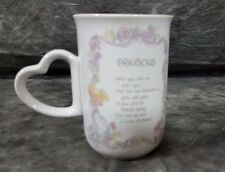 Precious Moments Precious Mug 1990 Coffee Cup Heart Handle