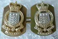 Staybrite Royal Army Ordnance Corps Regimental Collar/Cap Badge QC PAIR (A/A ORG