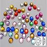 Wholesale beautiful 8 mm Flat Back Rhinestone Acrylic beads DIY U Pick color