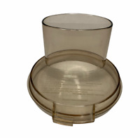 Cuisinart Food Processor DLC-8E Work Bowl LID ONLY Replacement Part Amber