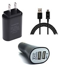 2 AMP WALL+DUAL USB CAR ADAPTER+MICRO USB CABLE FOR SAMSUNG GALAXY J3 EMERGE
