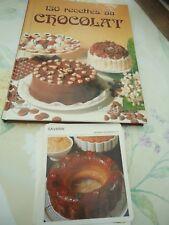 Livre de cuisine 150 recettes au chocolat  26 x 20 cm+ 20 fiches recettes en kdo