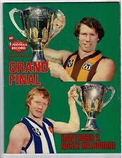 1978 Grand Final football Record Hawthorn vs North Melbourne