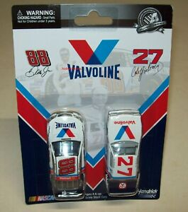 Dale Earnhardt Jr #88 Cale Yarborough #27 Valvoline Chevy Buick 2-Car Lot 1/64
