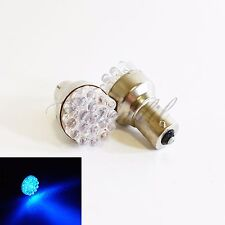 1156 BA15S Super Blue Round 19 LED 2x Bulb #Pt1 Reverse Backup Back Up Light